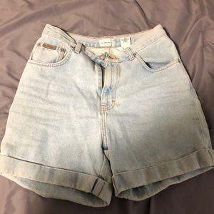 High waisted Calvin Klein Jean shorts